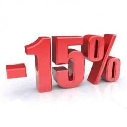 Скидка 15% при условии записи через интернет